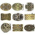 BBUM0307 FILIGREE FLORAL BLOSSOM CELTIC CROSS SHIELD ETERNITY KNOT BELT BUCKLE