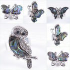 Abalone shell butterfly owl adjust able ring Us size:8 1/2-10