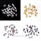100 Pcs End Cord Findings End Beads Tube Tip Caps  for Jewelry Making 5x3.5mm