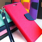 For LG Optimus L70 MS323 Hybrid PU Leather Flip Folio Wallet Pouch Case w/Stand