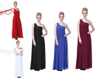 One Shoulder Drape Long Bridesmaid Wedding Party Prom Formal Dress Sz 4 - 20