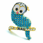 A Pave rhinestone crystal brooch pin bird animal perfect gifts prom queen charms