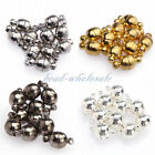 Free Shipping  10 Sets Silver/Gold Plated Round Ball Magnetic Clasps 6mm/8mm