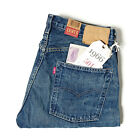 LEVI'S VINTAGE CLOTHING 1966 501 SELVEDGE JEANS RUFFED UP RRP £220