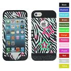 For IPHONE 5 5s STARS & ZEBRA Shockproof Hybrid Rugged Impact Armor Case Cover