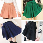 Fashion Vintage Women's Girls High Waist Chiffon Pleated Short Mini Skirts