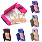 Samsung Galaxy S5 Hybrid Case Hidden Credit/ID Card Holder Flip Kickstand Cover