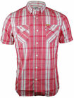 FIRETRAP Mens Red Johnny Shirt Uk Size S - XXL RRP £45 Free Uk P&P