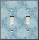 Light Switch Plate Cover - Lattice Flowers - Floral Home Decor - Light Blue
