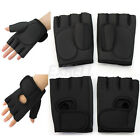 Fashion Half Finger Gloves For Cycle Workout Body Building Outdoor Sports Black