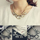 New Womens Trendy Choker Chunky Statement Bib Necklace Chain Pendant Jewelry