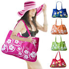 Ladies Flower Design Beach Bags Travel Shopping Gym Canvas Fashion Shoulder Tote