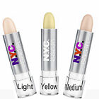 NYC Concealer Cover Stick in Light Med or Yellow to Hide Marks & Freckles CHOOSE