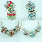 Wholesale Crystal Rhinestone Drum Barrel Loose Beads Fit Charms Bracelet Jewelry
