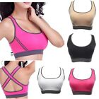 Women Padded Yoga Gym Sports Dance Crop Top Seamless Racerback Fitness Vest Bra
