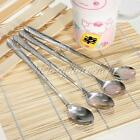 New 1-12pcs Stainless Steel Cocktail Coffee Latte Ice Cream Soup Tea Long Spoons