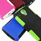 For LG Volt LS740 F90 APEX Hybrid Gel Perforated Hard Matte Soft Case Cover
