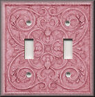 Light Switch Plate Cover - French Pattern Image - Rose Pink - Home Decor