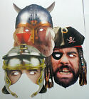 Historical Roman, Viking, Pirate Face Masks - Great for Parties - 1st Class Post