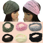 New Fashion Wide Headband Lace Bandanas Head Wraps Hair Decor For Lady Girls