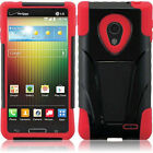 For LG Lucid 3 III VS876 AS876 T-Stand Hybrid Armor Cover Phone Case