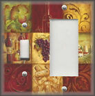 Metal Light Switch Plate Cover Italy Decor Tuscan Wine Grapes Decor Grapes Decor