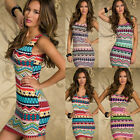 Scoop Bodycon Sexy Cocktail Prom Tribal Style Slim Short Clubwear Tunic Dress