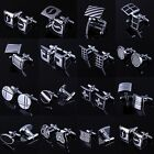 Men's Wedding Party Gift Classic Smooth Cufflinks Square Mens Shirt Cuff Links