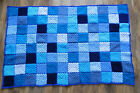 Handmade Crochet Blanket SINGLE Bedspread Acrylic Yarn VARIOUS COLOURS Boy/Girl