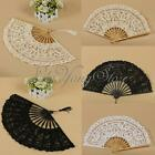 Vintage Lady Handmade Lace Cotton Hand Fan Bridal Wedding Party Party Decoration
