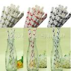 25Pcs Colorful Skull Paper Drinking Straws Wedding Party Birthday Decoration
