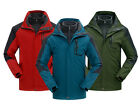 NEW Men Waterproof  2in1 Good Breathable Jacket Ski Outdoor 2in1 Coat Jacket