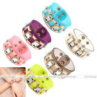 Womens PVC Resin Transparent Film Square Crystal Bangle Bracelet Cuff Wristband