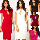 Sexy Women's Bodycon Slim Deep V-neck Pencil Dress Business Cocktail Party Dress