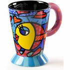 Romero Britto Hand Painted Ceramic Mugs
