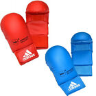 NEW ADIDAS MENS TRAINING WKF KARATE MITTS RED BLUE BOXING GLOVES WITHOUT THUMB