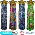 New Womens Long Bright Floral Printed Maxi Dress Ladies Party Summer Size 8-14