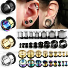 Pair Stainless Steel Horn O-ring Tunnels Ear Expander Plug Stretcher Gauge Punk