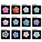 x20 Multi-color Acrylic Resin 3D Flower Beads Nail Art DIY Stickers Decoration C