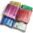 800X 8CM Metallic Twist Ties For Cake Lollipops Candy Food Gift Cellophane Bag
