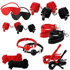 Bondage Set Kit Rope Ball Gag Cuffs Whip Collar Blindfold Adult Sex y Toy