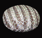 ms03n Mauve Brown Shimmer Velvet Silver Starlight Sequins Round Cushion Cover