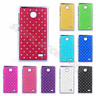 Diamond Bling Stars Plastic Chrome Hard Back Case Cover For Nokia X X+ Normandy