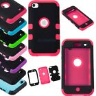 Triple Hybrid Impact Rubber Hard & Soft Case Cover For iPod Touch 4 4TH Gen