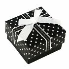 4xPaper Jewellery Ring Earring Present Gift Storage Display Stripe Boxes Bowknot