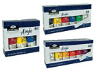 ROYAL LANGNICKEL ACRYLIC PAINT SETS LARGE 75ml TUBES HOBBY CRAFT ARTIST PAINTING