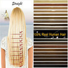 "Full Head 15""18""20""22""24""26""28"" Clip Remy Real Human Hair Extensions US STOCK"