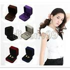 Lady Jewelry Velvet Ring Storage Earrings Gift Organizer Box Case Display Holder