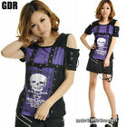 Freeship X LOLITA GOTHIC LACE SHIRT CUTE PUNK 71234 PURPLE M-L