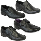 Mens Formal Shoes Italian Style Slip On Velcro Lace Up Dress Office Work Wedding
